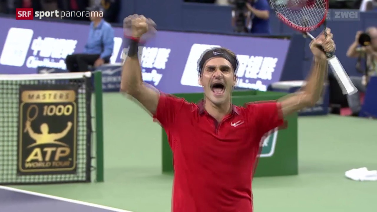 Tennis: ATP Schanghai, Final, Federer - Simon