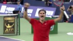 Video «Tennis: ATP Schanghai, Final, Federer - Simon» abspielen