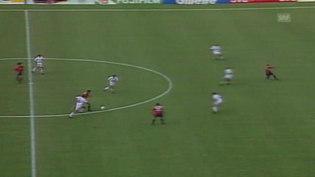 Video «Fussball: WM 1994, Schweiz - Spanien» abspielen