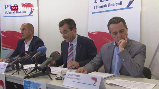 Video «Tessiner FDP-Führung schlägt Ignazio Cassis vor» abspielen