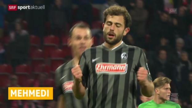 Video «Fussball: Bundesliga, Mehmedi mit 1. Liga-Tor der Saison» abspielen