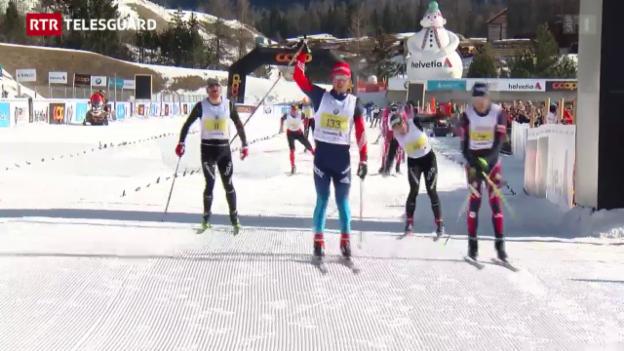 Laschar ir video «Ina survista dal Maraton da skis engiadinais 2015»