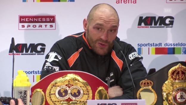 Video «Boxen: Fury nach seinem Sieg über Klitschko» abspielen