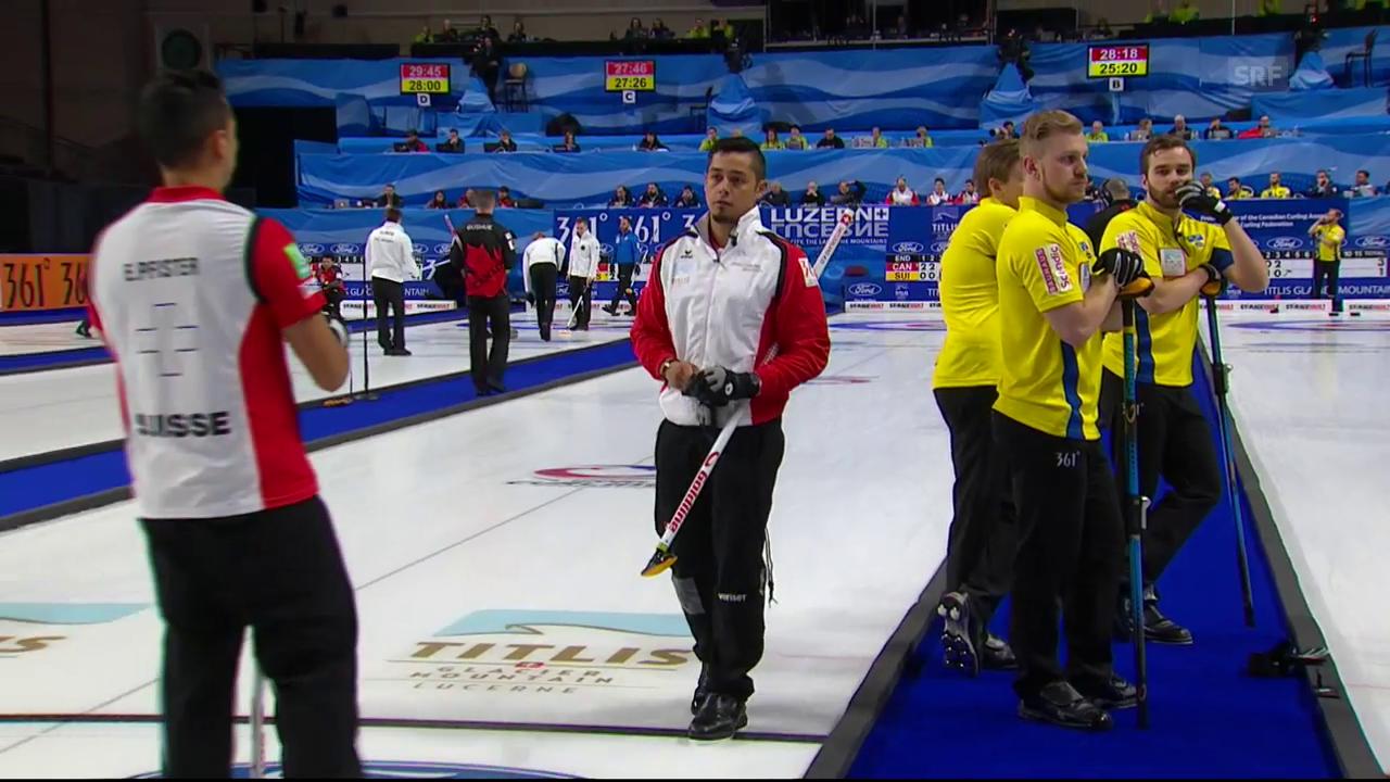 Schweizer Curler gegen Kanada chancenlos