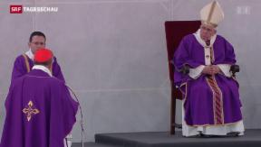 Video «Papst Franziskus mit deutlichen Worten gegen die Mafia » abspielen