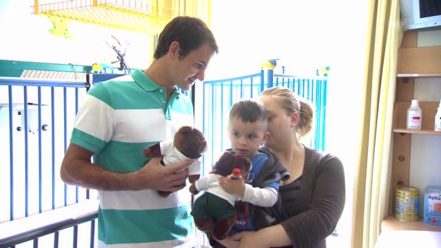 Roger Federer im Kinderzentrum