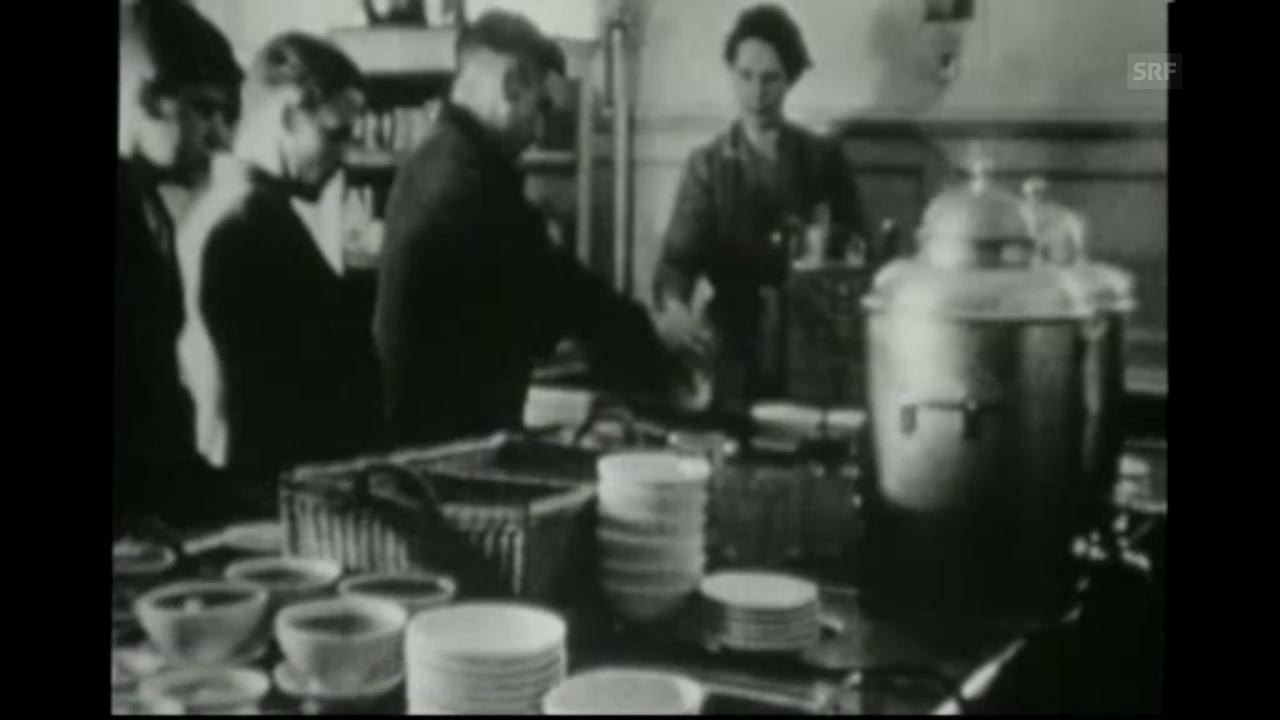 Die erste Kantine der Schweiz (um 1920)