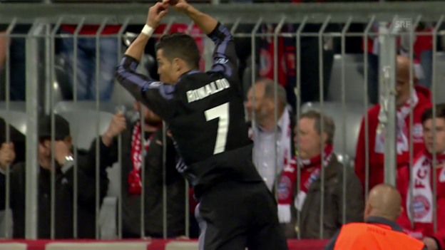 Video «Ronaldo dreht Spiel in München» abspielen