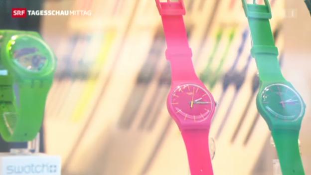 Video «Swatch rechnet mit starkem zweitem Halbjahr» abspielen