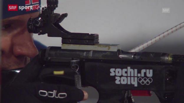 Video «Biathlon: 10 km Sprint Männer («sotschi aktuell», 8.2.2014)» abspielen