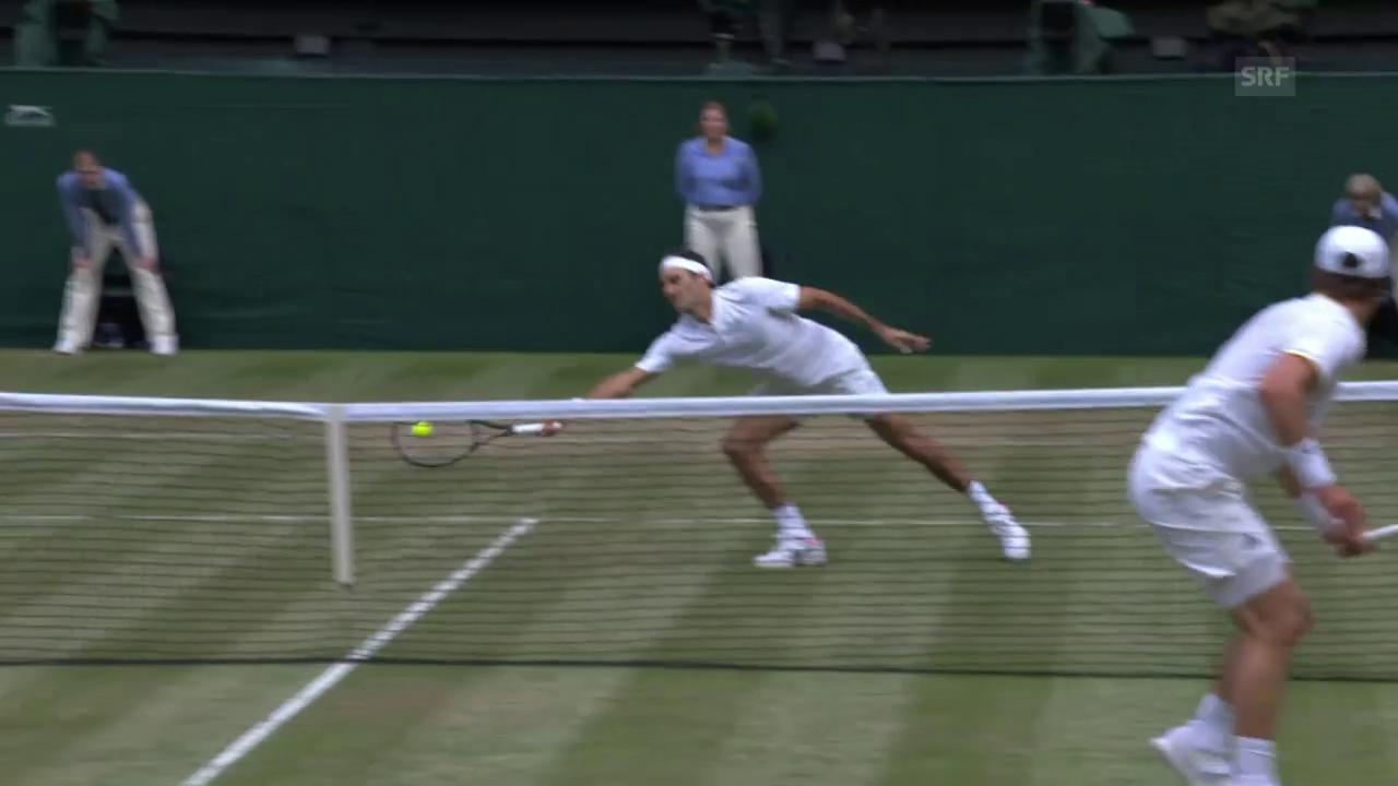 Federer am Netz unüberwindbar