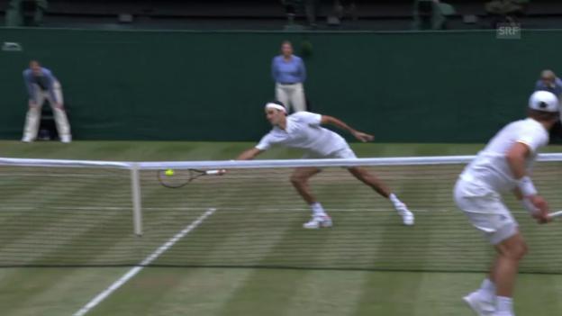 Video «Federer am Netz unüberwindbar» abspielen