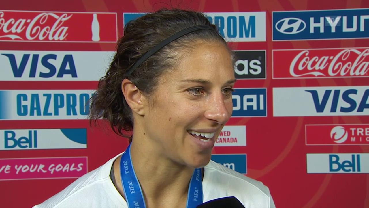 Fussball: Frauen-WM, Final, USA - Japan, Interview Lloyd