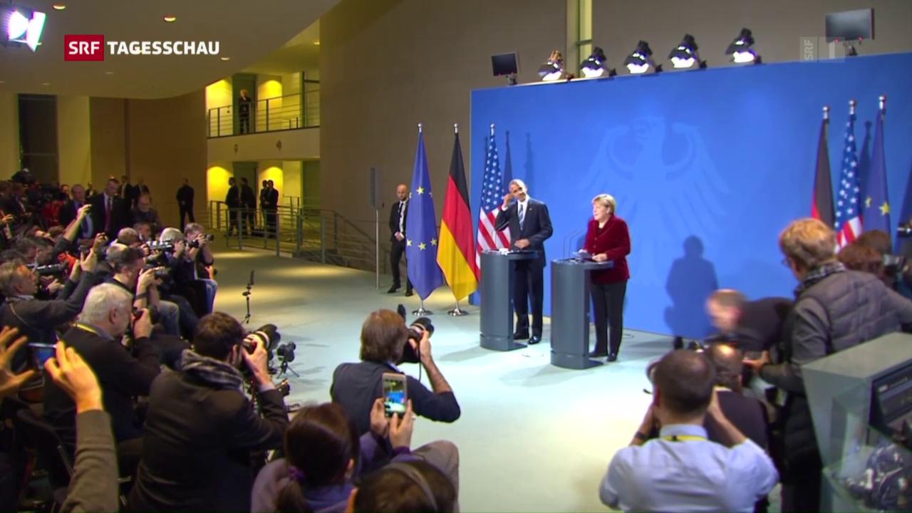 Obama und Merkel – zwei gute Freunde
