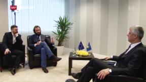 Video «Interview mit künftigem kosovarischen Präsidenten Thaçi » abspielen