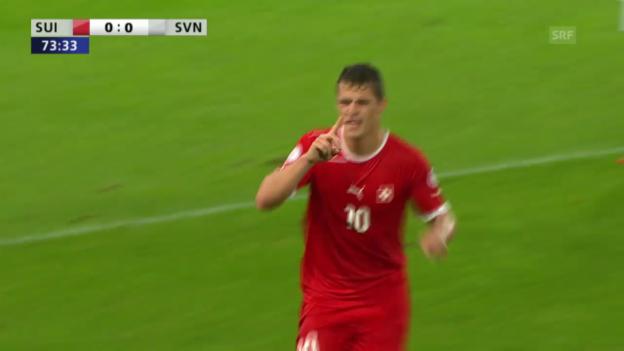 Video «Xhakas Traumtor gegen Slowenien» abspielen