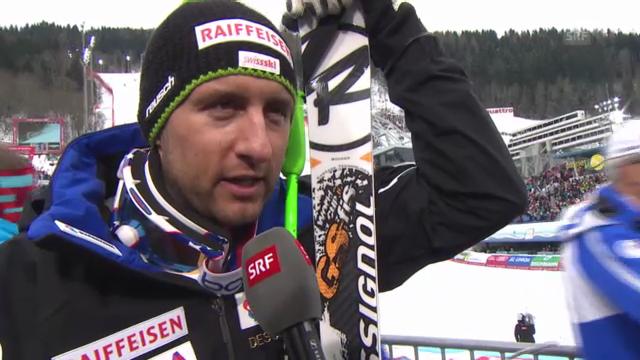 WM-Abfahrt: Interview Silvan Zurbriggen