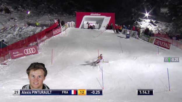 Video «Der Slalom von Pinturault («sportlive», 26.01.14)» abspielen