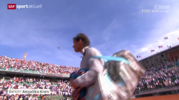 Video «Tennis.: French Open, Zusammenfassung Nadal - Murray» abspielen