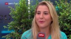 Video «Bencics Vorfreude auf Serena Williams» abspielen