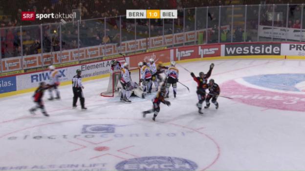 Video «Bern gewinnt Derby in letzter Sekunde» abspielen