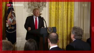 Video «Trump bestätigt an Medienkonferenz Kritiker und Anhänger» abspielen