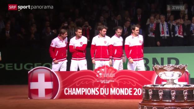 Video «Tennis: Das Schweizer Davis-Cup-Team» abspielen