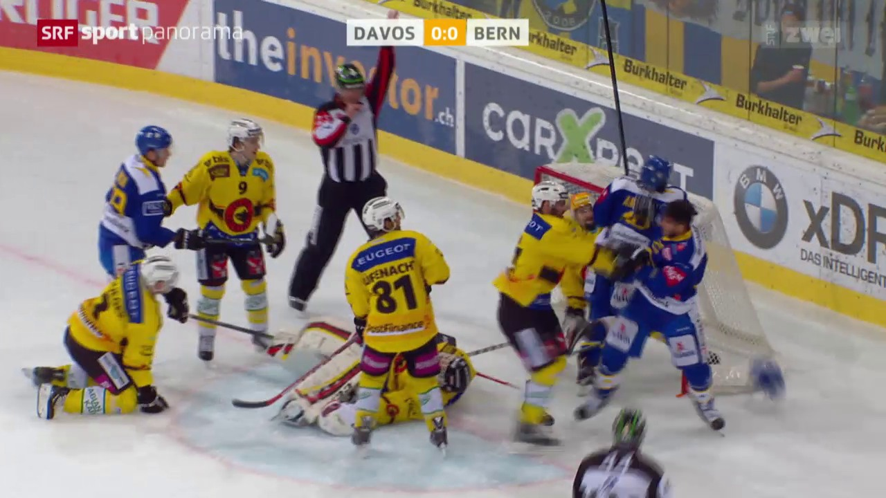 Eishockey: NLA, Davos - Bern