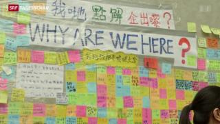 Video «Hongkong: Ultimatum abgelaufen- Regierungschef lehnt Rücktritt ab» abspielen