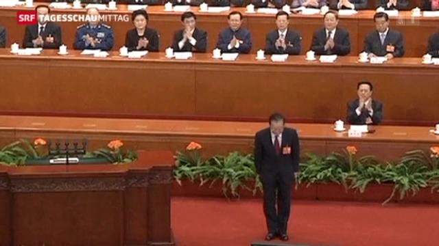 Scheidender Premier eröffnet Volkskongress