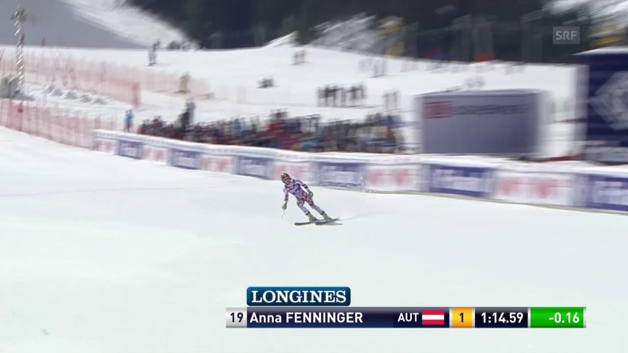 Ski alpin: Super-G in Bansko, die Fahrt von Anna Fenninger