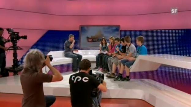Video «Das ganze Interview der Sek-Klasse Bütschwil» abspielen