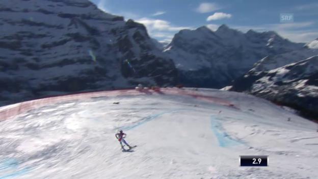 Video «Ski: 2. Training Lauberhorn, Fahrt Weber» abspielen