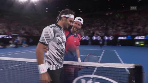 Video «Live-Highlights Melzer - Federer» abspielen