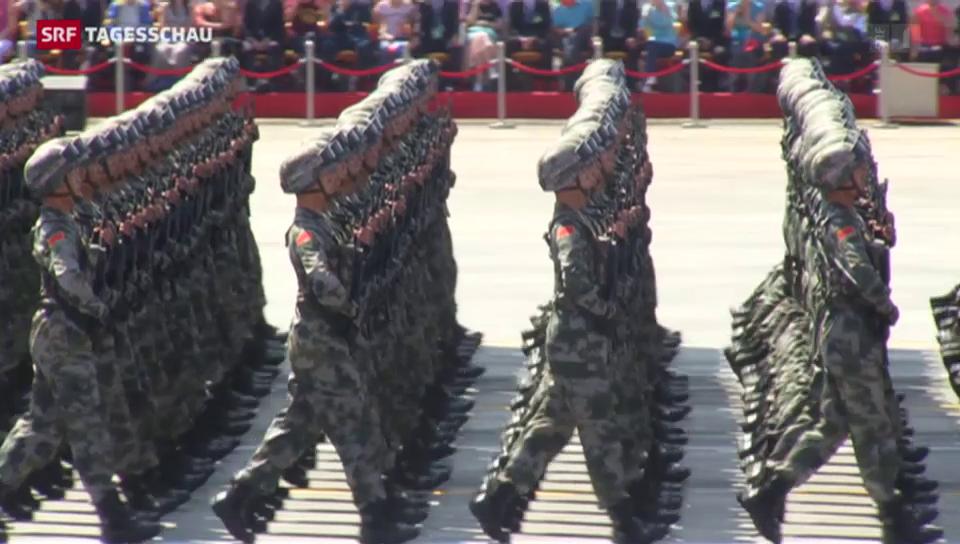 China feiert sich als Friedensstifter