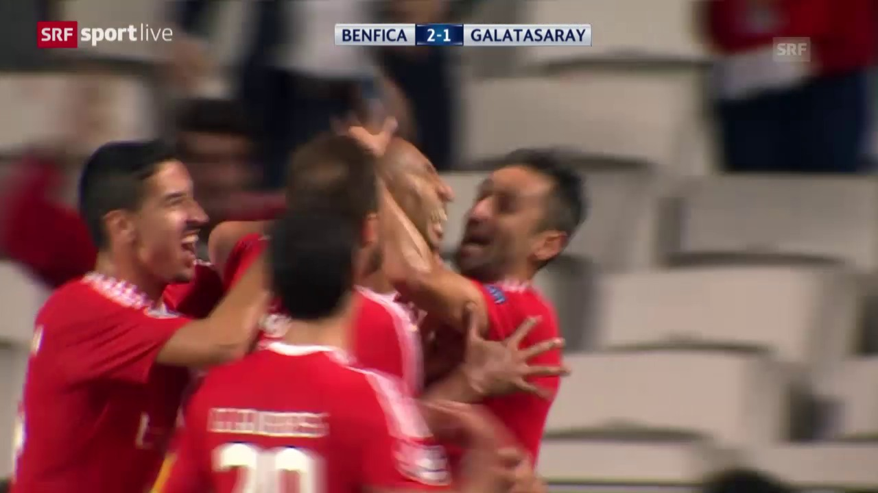Fussball: Champions League 2015/16, Gruppenphase, Benfica Lissabo - Galatasaray