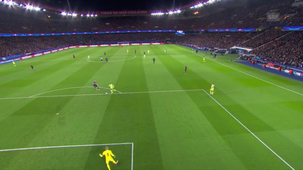 Video «Ibrahimovic schiesst im CL-Viertelfinal-Hinspiel gegen Manchester City den 1:1-Ausgleich» abspielen