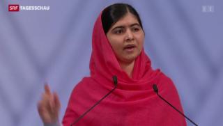 Video «Malala rührt mit Rede zum Friedensnobelpreis» abspielen