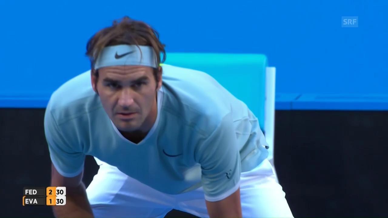 Die besten Punkte bei Federer - Evans