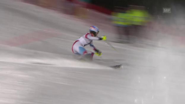 Video «Ski: Slalom Flachau, 1. Lauf Chable» abspielen