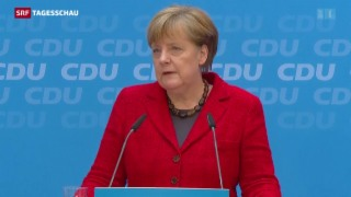 Video «Ein schwerer Tag für Angela Merkel» abspielen