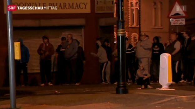 Video «Dritte Krawallnacht in Belfast.» abspielen