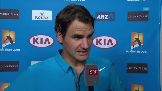 Heinz Günthardt interviewt Roger Federer