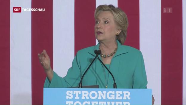 Video «E-Mail-Affäre schadet Clinton» abspielen
