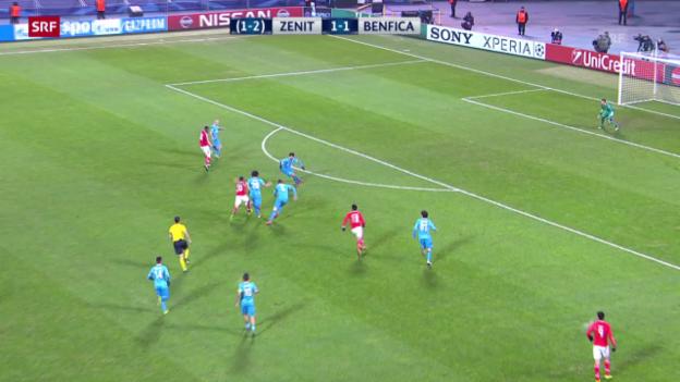Video «Zusammenfassung Zenit - Benfica» abspielen