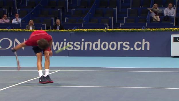 Video «Tennis: Swiss Indoors, Zauberschlag Dimitrov 2012» abspielen