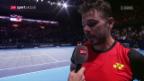Video «Wawrinka: «Es war ein grosser Kampf gegen Marco»» abspielen