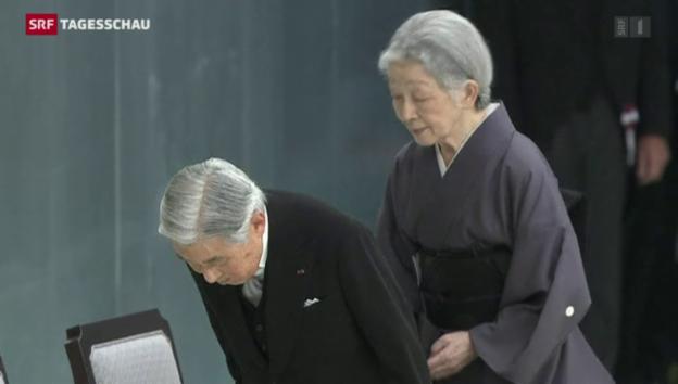 Video «Japans Kaiser äussert Reue und Mitgefühl» abspielen
