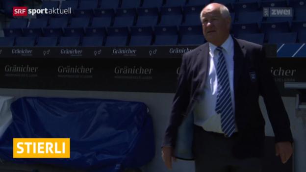 Video «Fussball: Super League, Stierli zieht sich bei Luzern zurück» abspielen