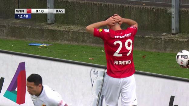 Video «Frontino trifft bei 0:0 nur den Aussenpfosten» abspielen